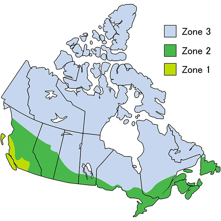 Canada climate zones